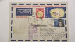 DDR Bis 64: Luftpost-Brief Mit 40 Pf Aus Block 40 Auf Messe-Sonderflug Warschau-Leipzig-Paris  Vom 1.3.65 Knr: 1082 Ua.