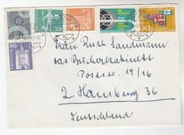 1967 Asconda SWITZERLAND Multi Stamps COVER To Germany - Switzerland