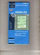 I G N - 1740 O - Compatible GPS - Houeillès (Lot Et Garonne) - Carte De Randonnée - 1 : 25000 . 1 Cm = 250 M - Topographical Maps