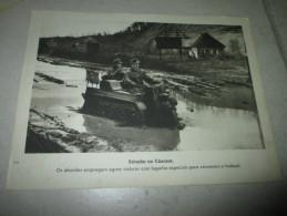 Photograph Photo WWII Deuxieme Guerre Mondiale German Soldier Soldat Allemand Tank Moto - Documents