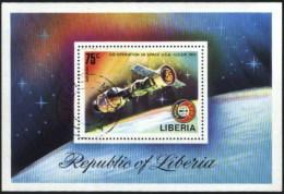 Liberia Space, Espace, USA USSR Co-operation Used Cancelled Block M/S (U-66)