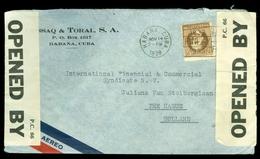 CENSUUR LP BRIEFOMSLAG Uit 1939 Van HAVANNA CUBA Naar DEN HAAG  (10.525zae) - Cuba