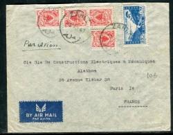 Liban - Enveloppe De Zahlé Pour Paris En 1947 Par Avion  - Réf D 89 - Lebanon