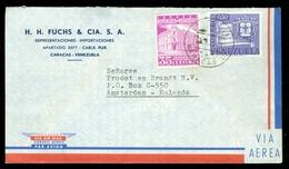 LP BRIEFOMSLAG Uit 1939 Van CARACAS VENEZUELA Naar AMSTERDAM (10.525zaf) - Venezuela