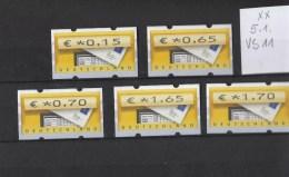 BRD ** Automatenmarken Nr 5.1  VS 11  Postpreis 4,85 - [7] República Federal