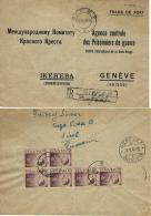 PRISONER WAR AGENCE CENTRAL PRISONNIER DE GUERRE GENEVE 1946 SIRET ROMANIA - Military Mail (PM)