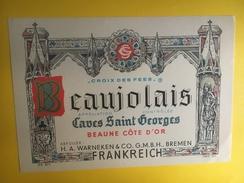 2660 - Beaujolais Croix Des Fées Caves Saint-Georges Mise En  Bouteilles à Bremen Allemagne - Beaujolais