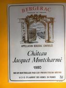 2663 - Bergerac Château Jacquet Montcharmé 1980 - Bergerac