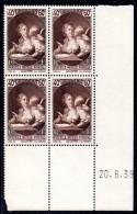 FRANCE - YT N° 446 Bloc De 4 Coin Daté - Neuf ** - MNH - Cote 30,00 € - 1930-1939