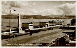 RENFREW - GOUROCK - BATHING POOL AND WAR MEMORIAL  RP Ren21 - Renfrewshire