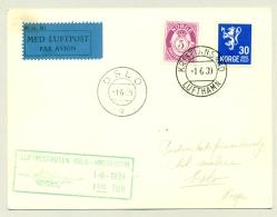 Nederland / Norge - 1939 - Norway Mail On Part Of KLM Flight (Amsterdam) - Kristiansand - Oslo - Periode 1891-1948 (Wilhelmina)
