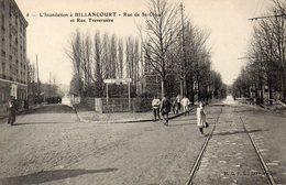 CPA L'INONDATION A BILLANCOURT - RUE DE SAINT CLOUD ET RUE TRAVERSIERE - Boulogne Billancourt