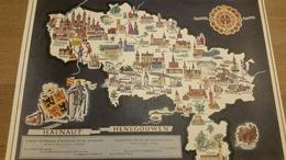 Kaart-Carte- Provincie Henegouwen- Province Hainaut -Pub/Rec- ASLK-Caisse D'épargne- Bezienswaardigheden- Attractions - Cartes