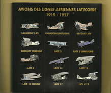 Cofret Pins  Avions   Des Lignes Aeriennes Latecoere 1919 1927  Toulouse  Dackar 12 Avions - Aerei