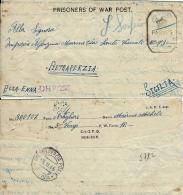 BIGLIETTO CAMPO PRIGIONIERI INDIA POW CAMP 10 BHOPAL 1945 X PIETRAPERZIA - 1900-44 Vittorio Emanuele III