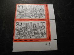 Bund 1971 Postfrischer 2er Block Mit Bogennummer /Ecke - [7] Federal Republic