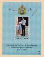 Palau, (Sc # 1166) MNH,  (Complete Set, S/S Of 1) Birth Of Prince George  (2013) - Palau