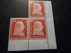Bund 1957 Postfrische Marken Mit Bogennummer /Ecke - Unused Stamps