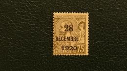"""Monaco 1921 Prince Albert 1er N°49 75c. Brun-olive Sur Chamois """"28 Décembre 1920"""" Neuf* TB 0,50 € (cote 6 €) - Neufs"""