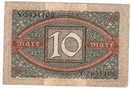 ALLEMAGNE 10 MARK 06/02/1920 - [ 3] 1918-1933 : Weimar Republic
