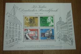 Allemagne Berlin Bloc Feuillet N°4 Blok 50 Jahre Deutscher Rundfunk 1973 ** - Blocks & Sheetlets