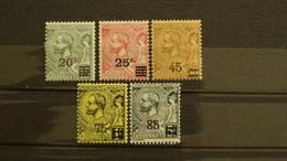 Monaco 1921/24 Prince Albert 1er N°51,52,53,70,71,72 Neufs* 0,75 € (cote 13,30 € 6 Valeurs) - Monaco