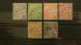 Monaco 1891/1901 Prince Albert 1er N°12,17,22,23,23a,24 Oblitérés 0,65 € (cote 8,10 € 6 Valeurs) - Monaco