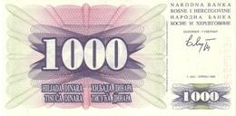 BOSNIA & HERZEGOVINA 1000 DINARA 1992 P-15 UNC  [BA015] - Bosnia And Herzegovina