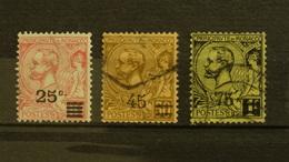 Monaco 1922/24 Prince Albert 1er N°52,70,71 Oblitérés 0,25 € (cote 3,30 € 3 Valeurs) - Monaco