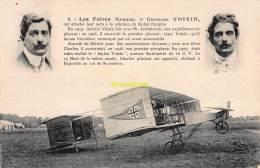 CPA AVIATION LES FRERES GABRIEL ET CHARLES VOISIN - ....-1914: Precursors