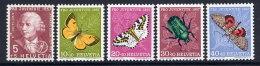 SWITZERLAND 1957 Pro Juventute Set MNH / **.  Michel 648-52 - Pro Juventute