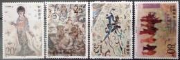 China, 1992, Mi. 2440-43, Sc. 2407-10, Y&T 3132-35, Wall Paintings, MNH - Neufs