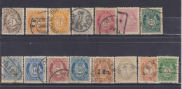 NORWAY 1877-1898 LOT STAMPS - Norvège