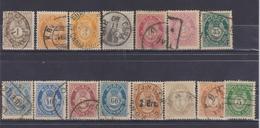NORWAY 1877-1898 LOT STAMPS - Oblitérés
