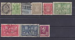NORWAY 1877-1909 LOT STAMPS - Oblitérés