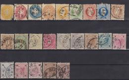 AUSTRIA 1863-1890 LOT STAMPS - Oblitérés