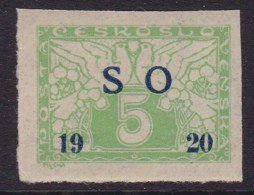 Eastern Silesia 1920 Fi E2 Mint Hinged - Autres
