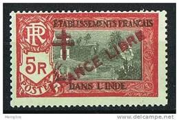 INDE ßurcharge »Croix De Lorraine Et FRANCE LIBRE»  Maury  218 II ** Signé - Ungebraucht