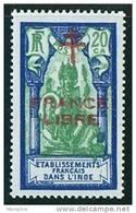INDE ßurcharge »Croix De Lorraine Et FRANCE LIBRE»  Maury  208 II  ** - India (1892-1954)