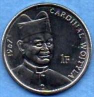 CONGO  1 Franc  2004 Jean Paul II   UNC/NEUVE - Congo (République Démocratique 1998)