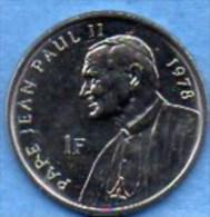 CONGO  1 Franc  2004 Jean Paul II   UNC/NEUVE - Congo (Democratic Republic 1998)