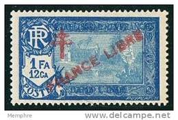 INDE ßurcharge »Croix De Lorraine Et FRANCE LIBRE»  Maury  211 II ** Signé - India (1892-1954)