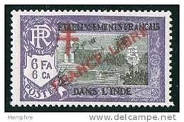 INDE ßurcharge «Croix De Lorraine Et FRANCE LIBRE»  Maury  214 II * Signé - India (1892-1954)