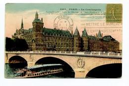 CP 13 PARIS  LA CONCIERGERIE ( BATEAU MOUCHE ) 1918 - Bridges