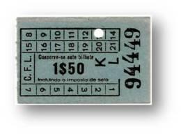 C. F. L. - Carris De Ferro De Lisboa - 1$50 - Tramway Ticket - Serie KL - RADAR 94449 CAPICUA - Portugal - Tranvías