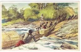 Chromo Anco N° 12 Congo Belge Les Embarcations Sont Amenées Sur La Terre Ferme à Ngoma - Autres
