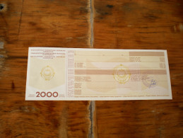 Promissory Note Menica  2000 Dinara  Jugoslavija - Jugoslavia