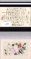 530036,Material Seiden AK Seidenkarte Aus Liebe - Ansichtskarten