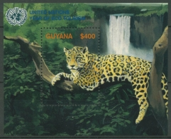 Guyana 2002 Jahr Des Ökotourismus: Jaguar Block 737 Postfrisch (C72296) - Guyana (1966-...)