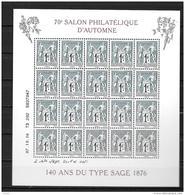 07 / 10 / 2106 - 70° Salon D´automne à Paris - 140 Ans Du Type SAGE - Nuovi